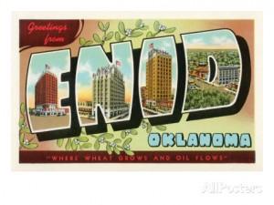 Enid Oklahoma Vintage Postcard